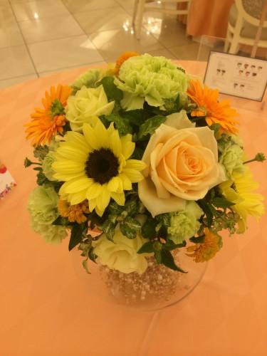 ひまわり装花